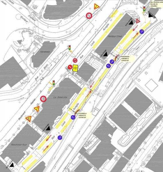 La rue Louis Aureglia fermée à la circulation du 1er au 26 août