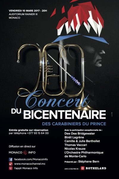 Suivez le concert du bicentenaire des Carabiniers du Prince vendredi 20h00 sur Monaco Info !