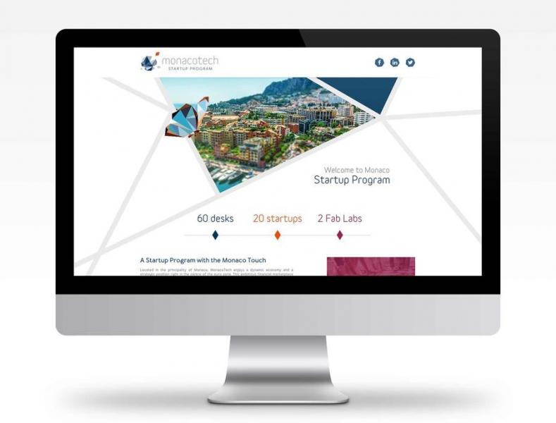 MonacoTech : a web site presenting the Startup Program