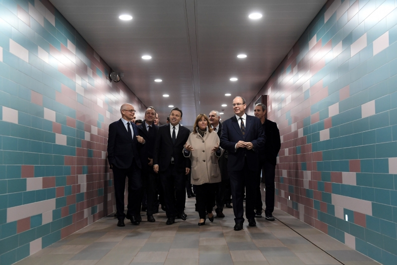 New pedestrian underpass opened at Monaco Station