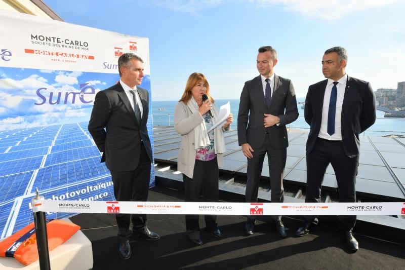 Inauguration du parc de panneaux solaires du Monte-Carlo Bay