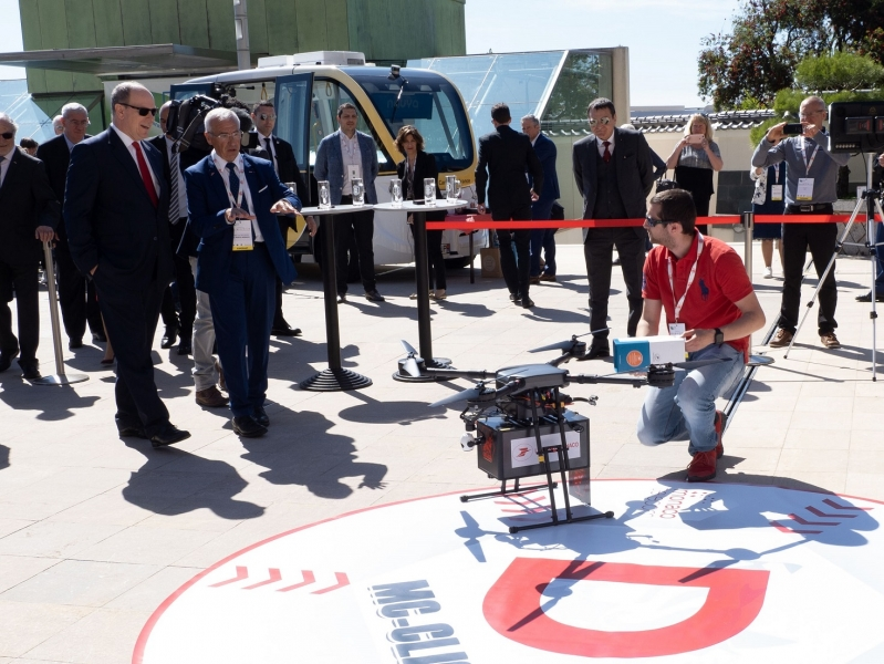 First parcel delivery by drone in the Principality